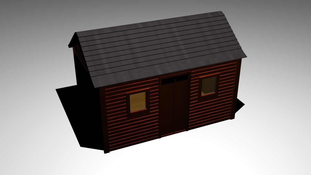 free shed 3d model