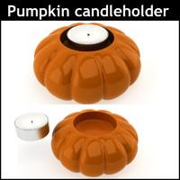 3d pumpkin candleholder materials