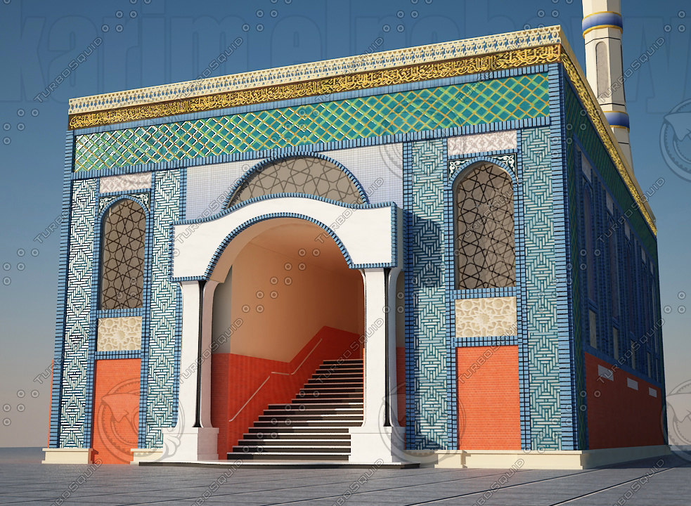 mosque islam 3d dxf