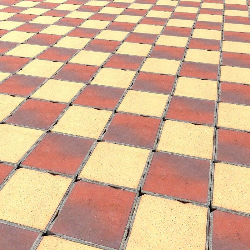 3d model stone floor