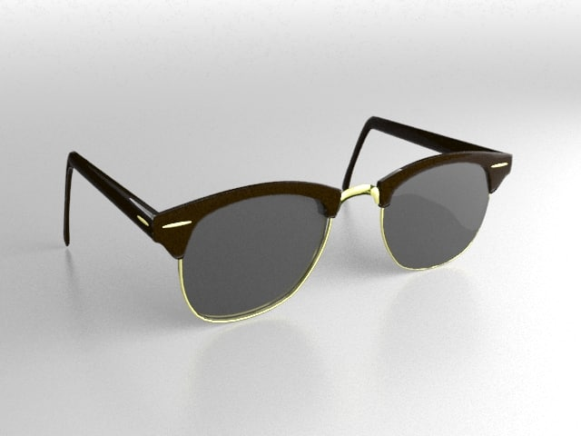3d glasses sunglasses clubmaster model