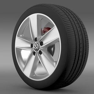3ds max polo 2010 wheel