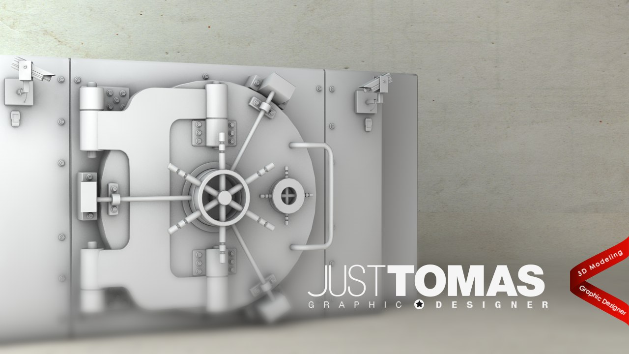 3d model of safe justtomas