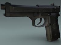3d beretta gun model
