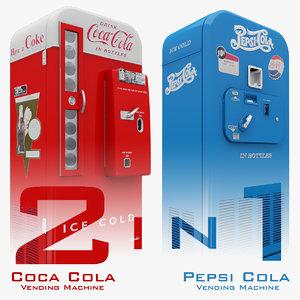 3d coca cola vending machine