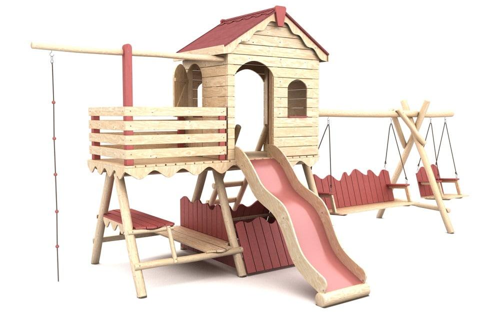 wooden playground 1 3d model