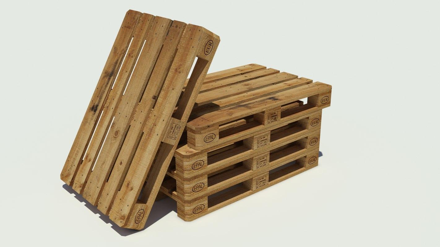 3ds wood pallet euro
