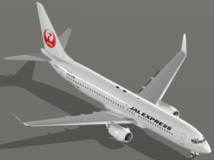 3d boeing 737-800 jal express model