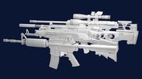 Weapon pack(m4, Ak-47, G36C, L96, M98b)