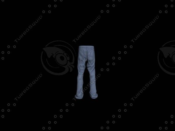 nice skinny pants 3d model