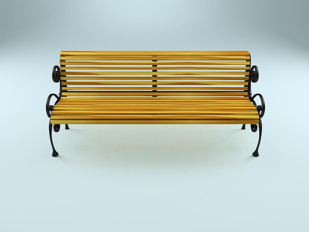 park bench obj