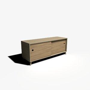 3d television cabinet model