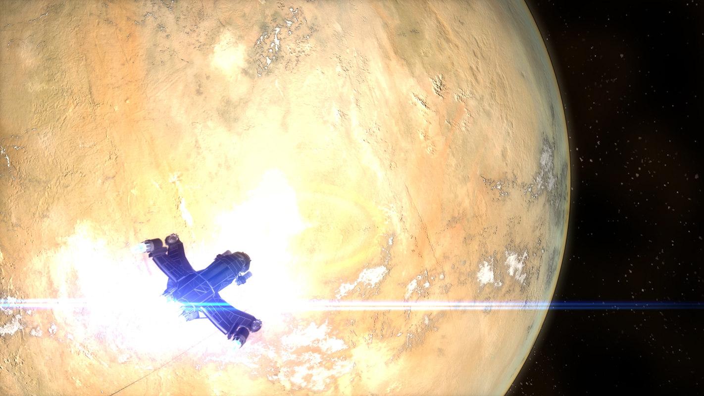 3dsmax planet gas giant desert