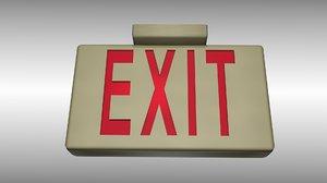 3d exit light