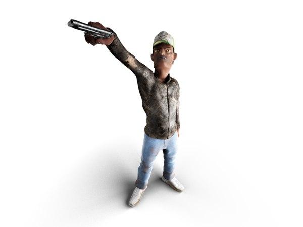 3d guy man model