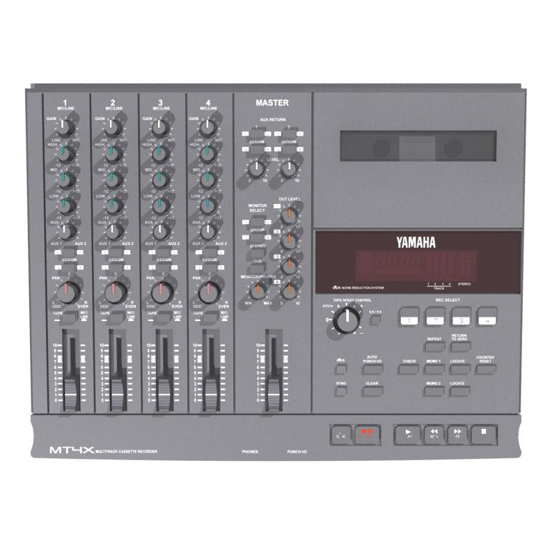3d cassette track recorder model