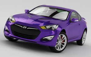 hyundai genesis coupe 2013 3d max