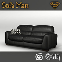 hampshire sofa 3d model