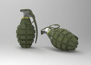 wwii mk2 hand grenade obj