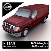 3d max 2012 nissan nv2500 cargo van