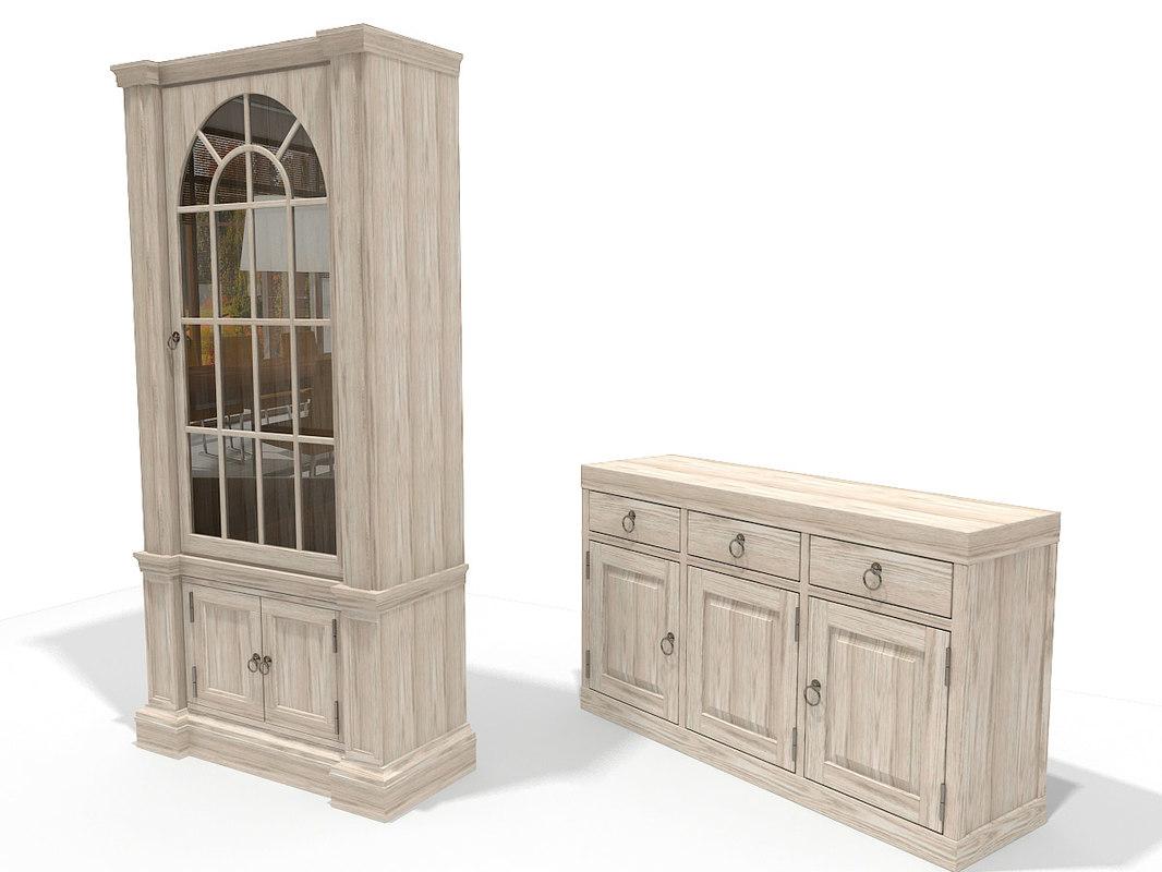 classic cupboard sideboard 3d model