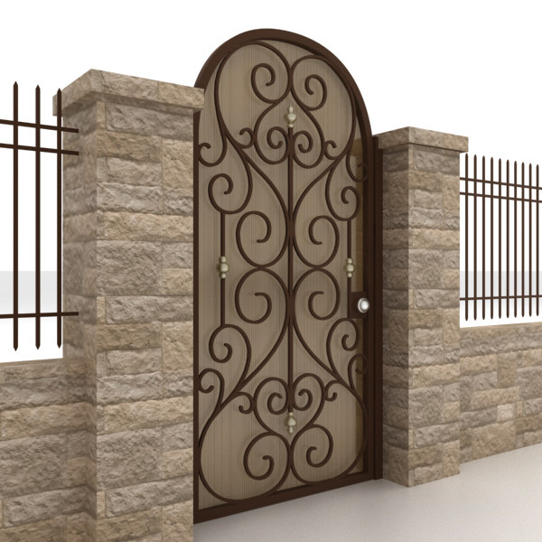 3ds max metal gate fence