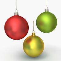 3d christmas ornament model