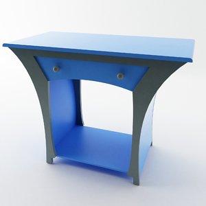 surreal desk drawer 3d model