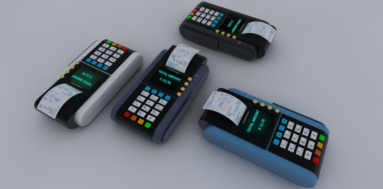 credit card reader 3d model