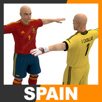 football player - spain 3d 3ds