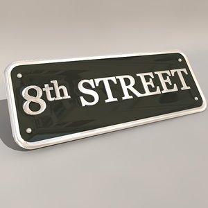street sign obj