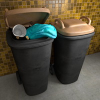 Trash Can Garbage Bin Waste Container