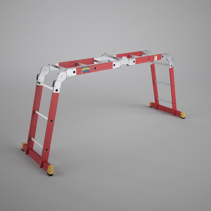 scaffold ladder 3d model