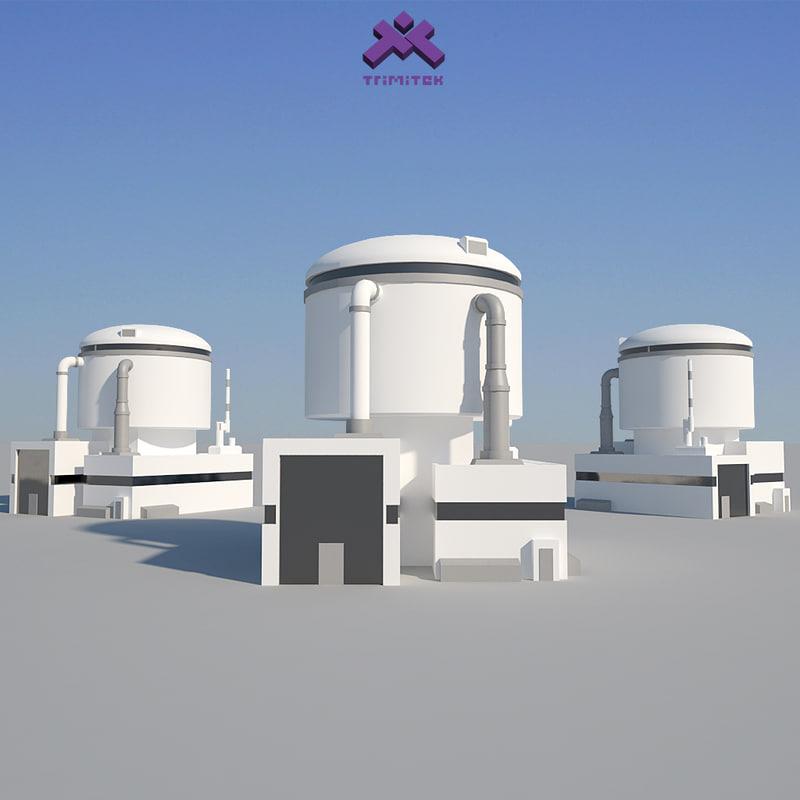 modern industrial building 3d model