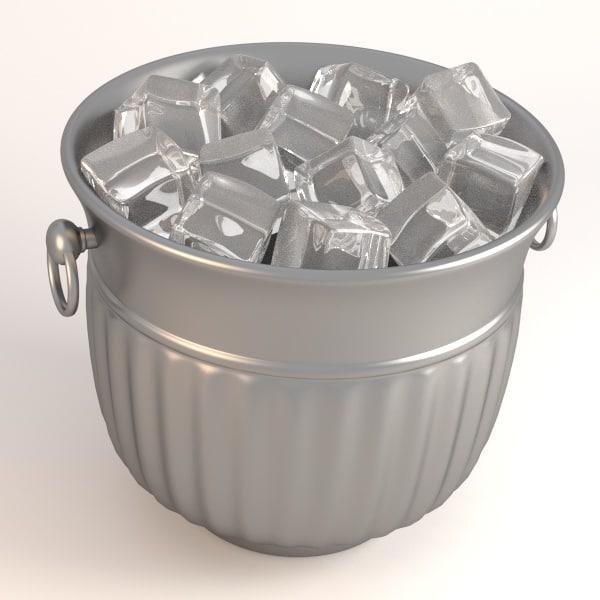 bucket ice 3d model