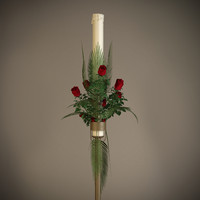 3d candle floral arrangement