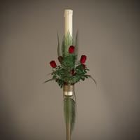 Candle Floral Arrangement