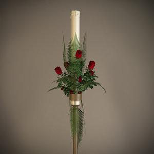 3d candle floral arrangement