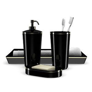3d max black bathroom fixtures