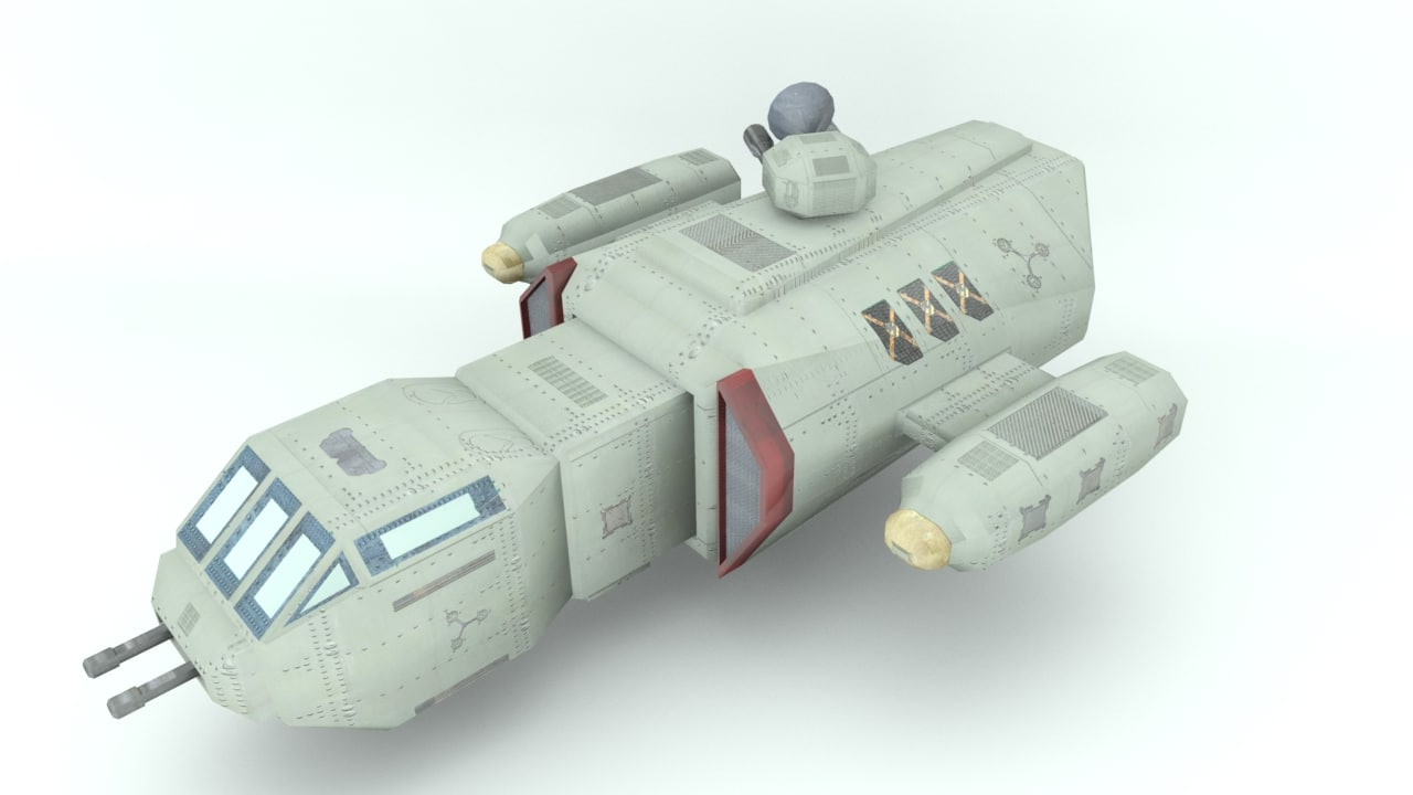 3d space freighter