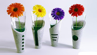 4 elements concrete vases