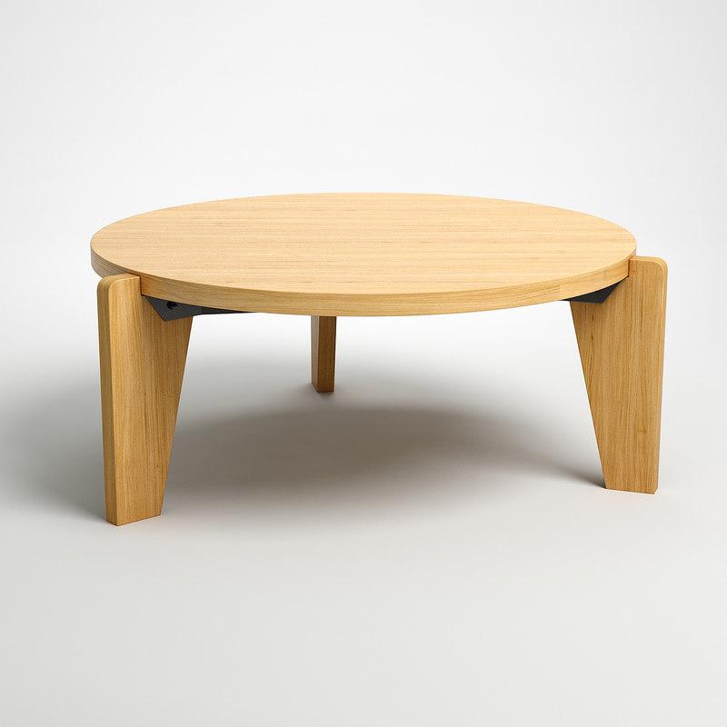 jean bas coffee table 3d model