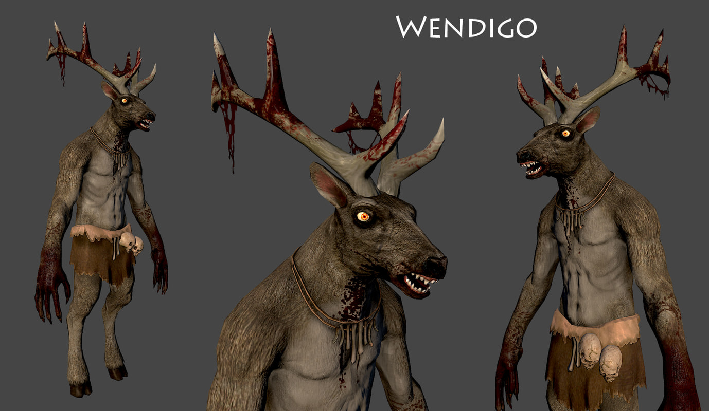 3d wendigo monster model for Monster 3d model