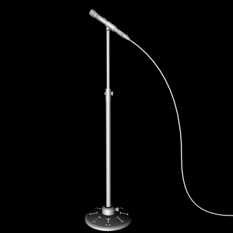 basic microphone stand 3d c4d
