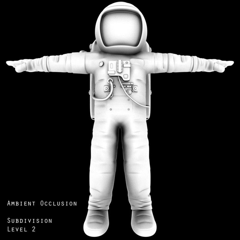 3d futuristic astronaut