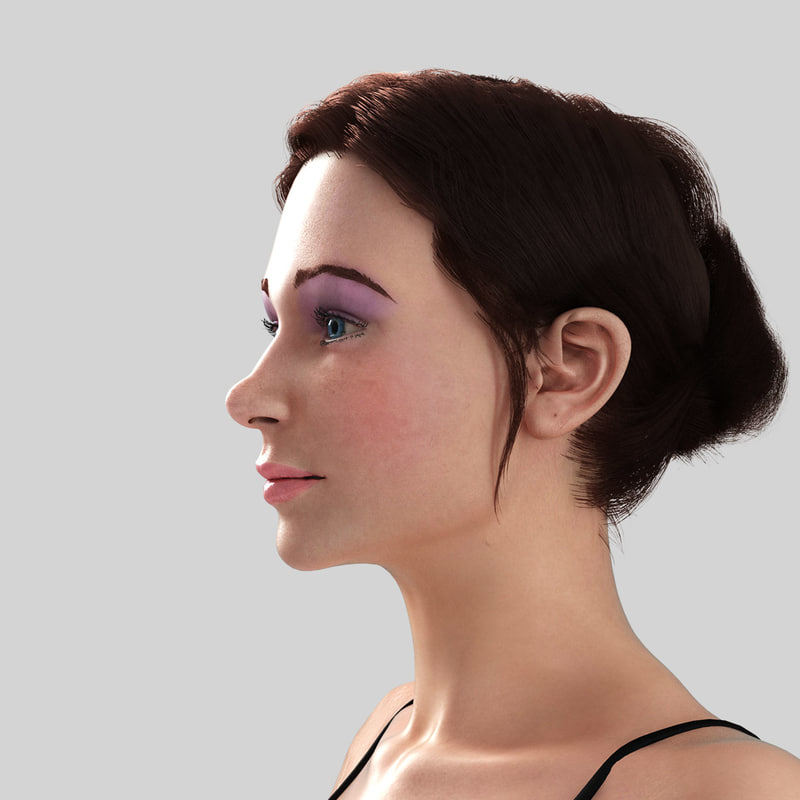 young girl - nadia 3d model