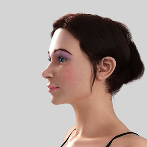young girl - nadia 3d model