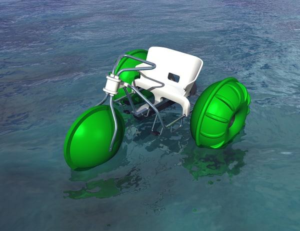 water trike paddle dxf