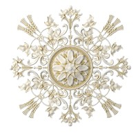 3d model of plaster ceiling medallion