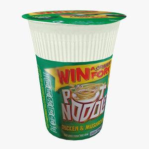 3d model pot noodle